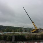 Steel work on the Worcester Visitor Center