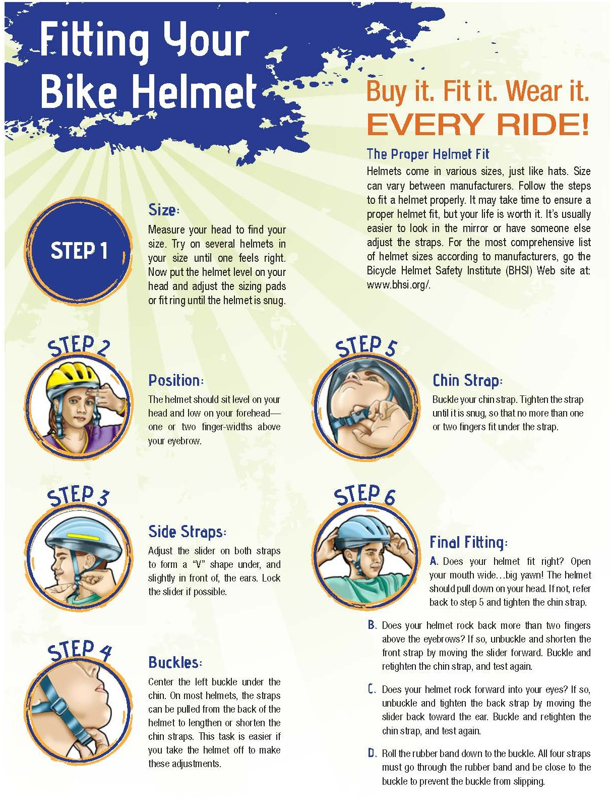 Fitting Your Bike Helmet page 1