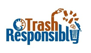 Trash responsibly logo