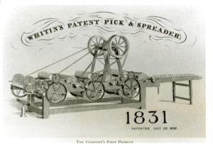 Whitin's Pick & Spreader Machine
