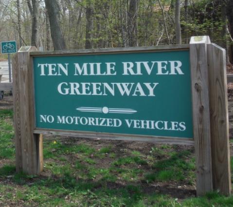 Ten Mile Greenway sign