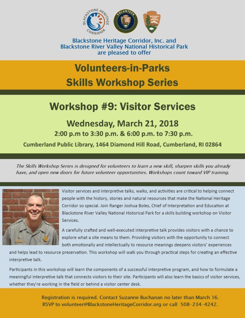 Volunteer Skills Workshop: Visitor Services