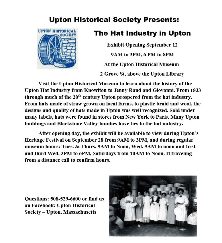 Upton Historical Society Hat Show
