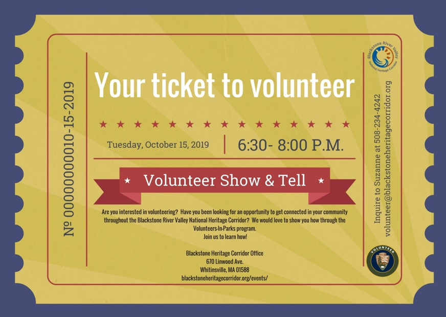 Ticket To Volunteer Oct 15