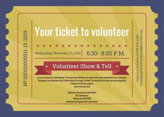 Ticket To Volunteer