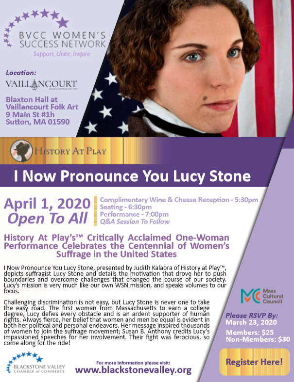 I Now Pronounce You Lucy Stone