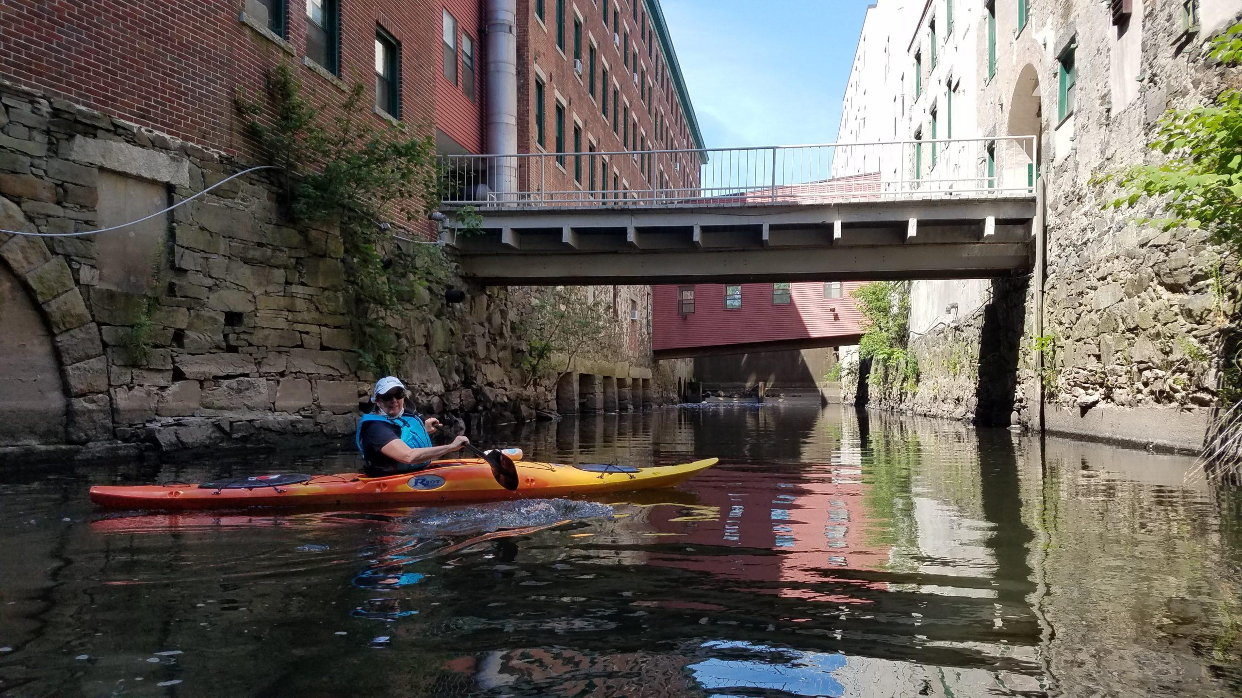 Paddling on the Blackstone River