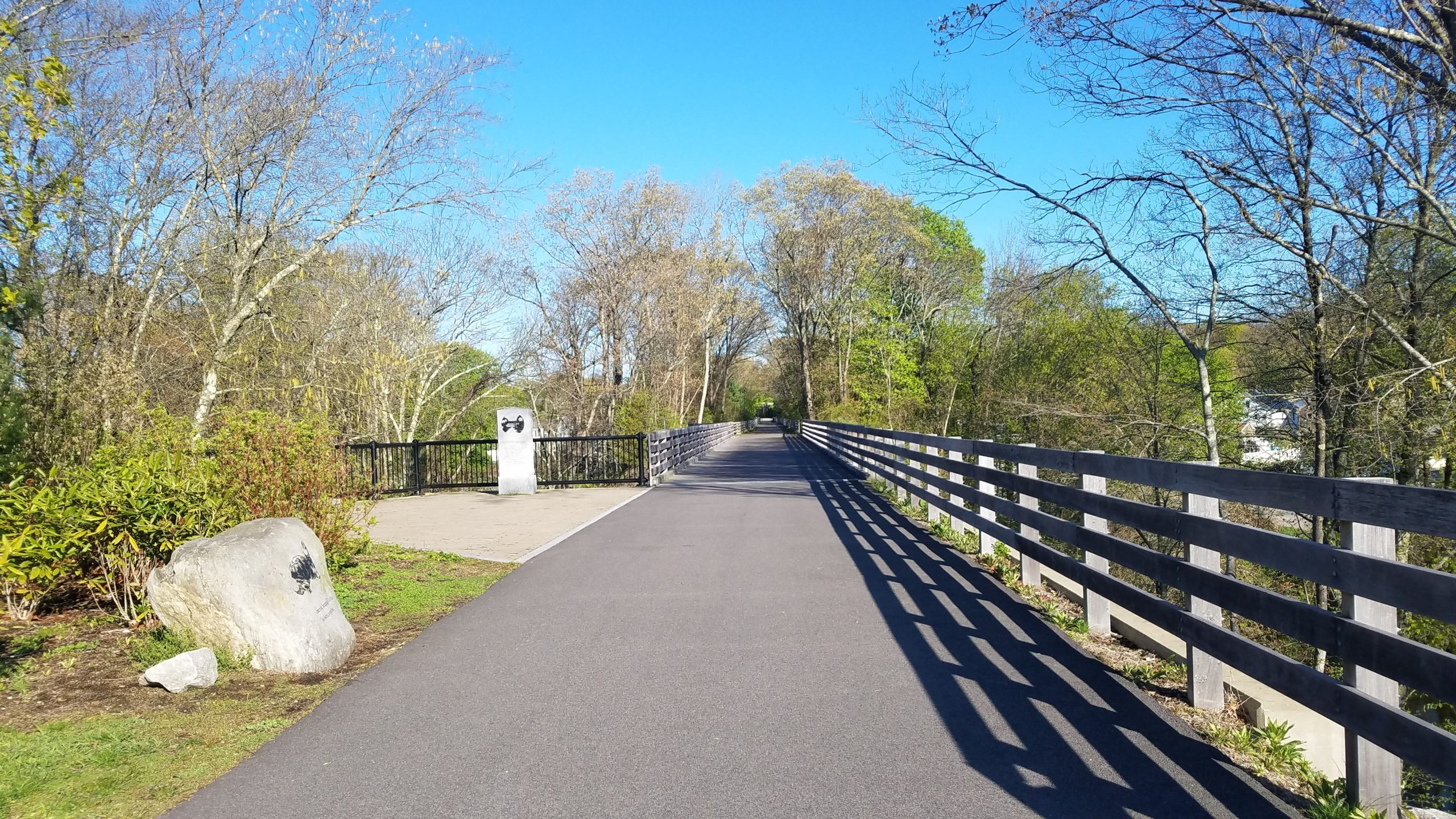 Blackstone River Greenway first bridge 3