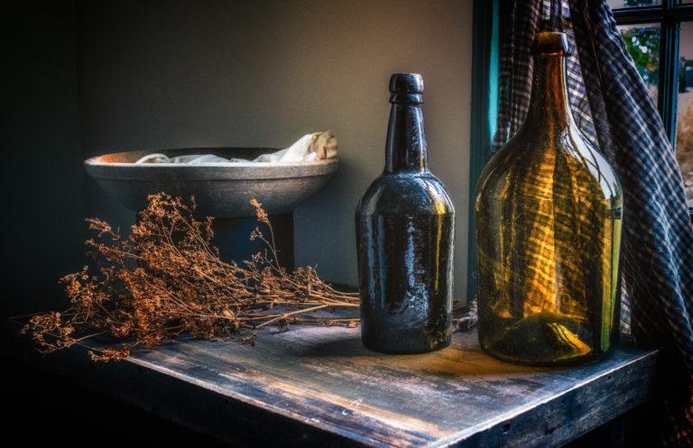 Artifacts from the Pettingell-Mason House.  Photo by Ellen  Kawadler, Blackstone Heritage Corridor Photography Ambassador.