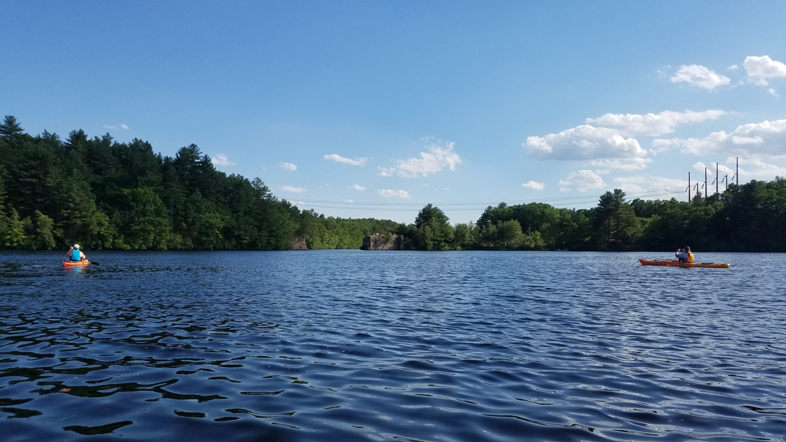 Slatersville Reservoir with Paddlers