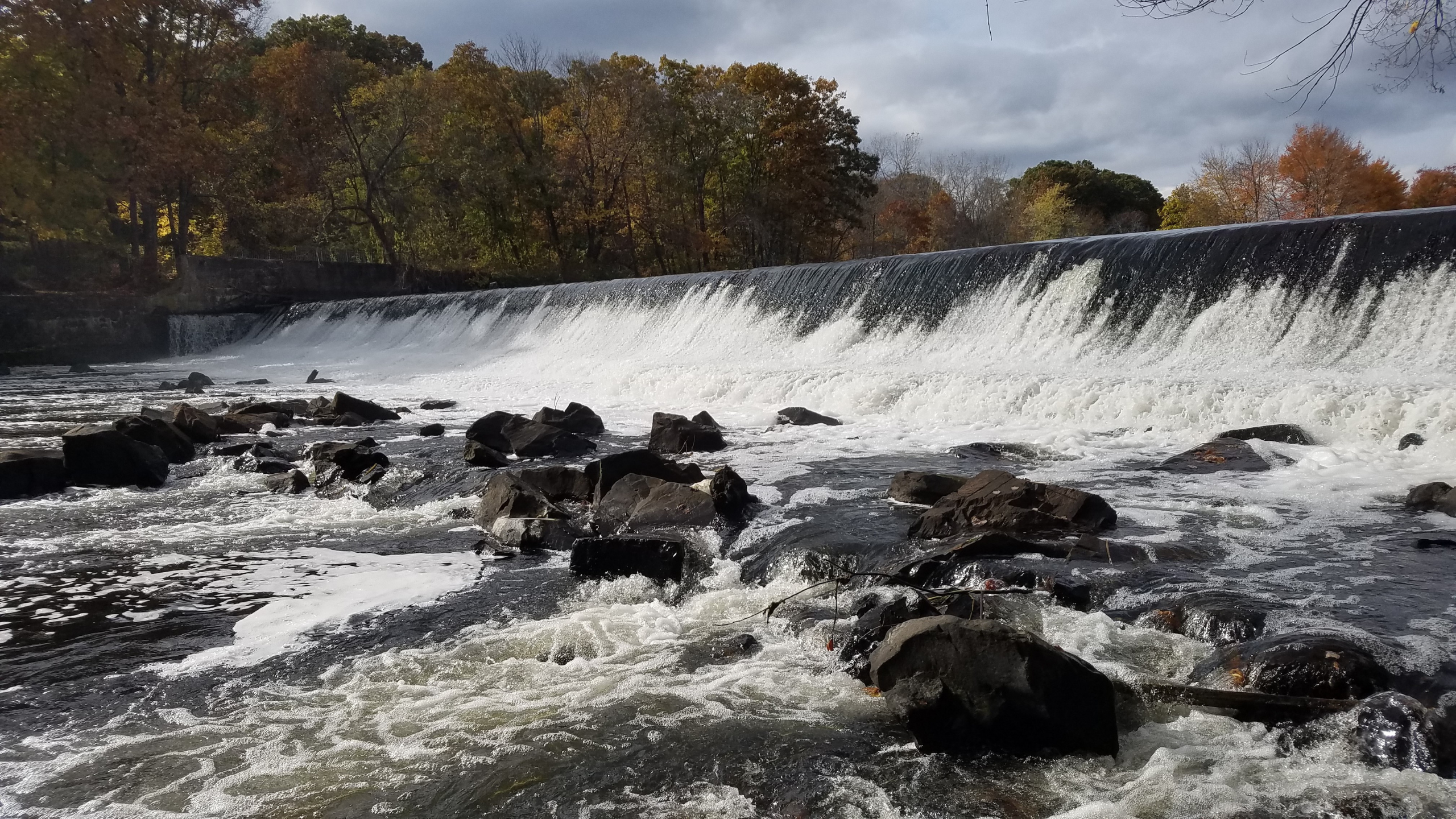 Albion Dam in Lincoln, RI. Photo by Bonnie Combs.