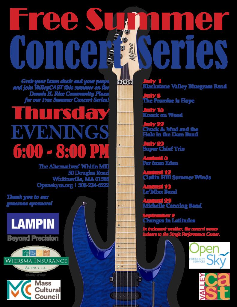 2021 Free Summer Concert Series Flyer